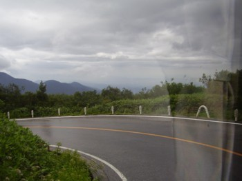 2009年8月13日 室堂から美女平に向かう、高原バスから見た景色 その2