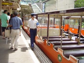 2009年8月14日(金) トロッコ電車 オープン車両