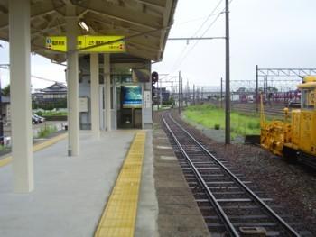 2009年8月14日(金) 新魚津駅にて