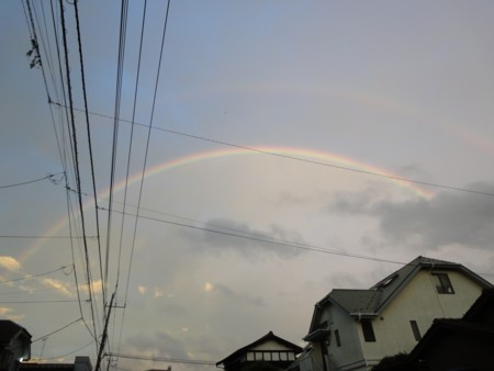 2012年9月19日の二重の虹1
