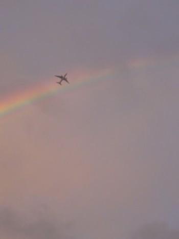 2012年9月19日 二重の虹と飛行機