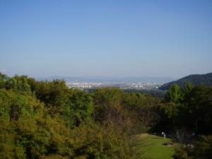 アサヒビール大山崎山荘美術館からの風景