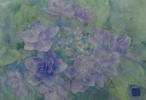 「紫陽花」完成