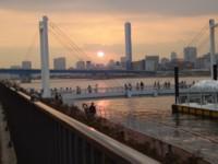 晴海運河の夕日
