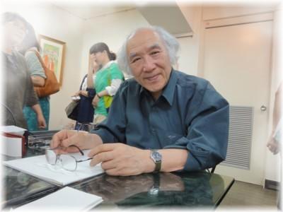 高橋真琴個展「海のファンタジー 人魚の世界」 初日の高橋真琴先生