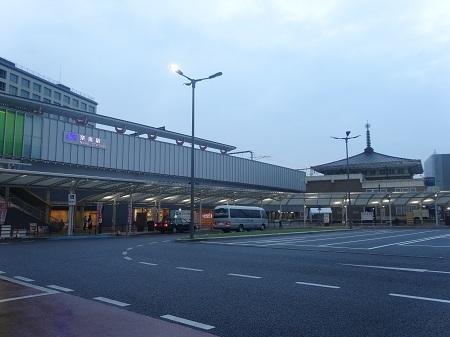 JR奈良駅前 2014年10月27日朝