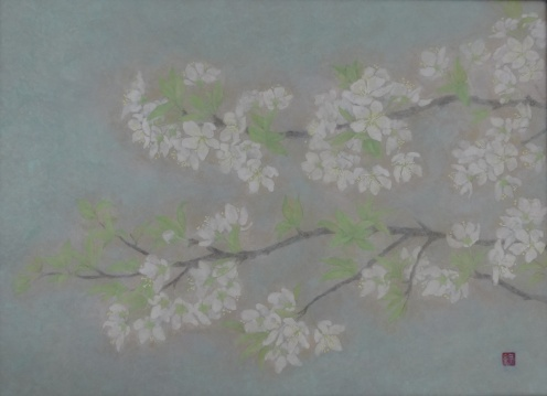 「スモモの花」完成