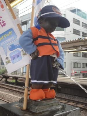 2013年8月 JR浜松町駅の小便小僧1