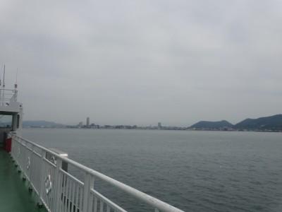 高松港行きフェリーから