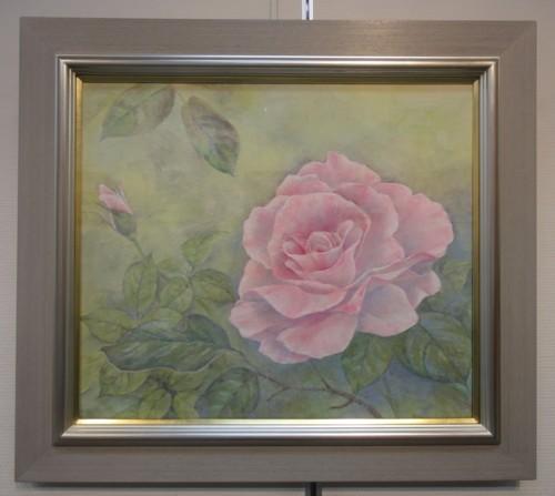 紙本彩色 「薔薇」 F10