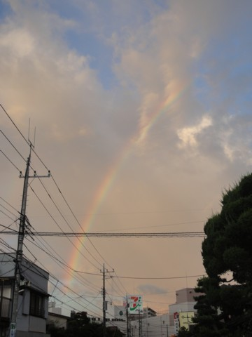 2012年9月1日 夕方の虹