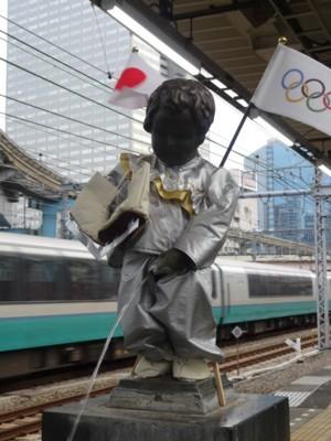 2014年2月 JR浜松町駅の小便小僧