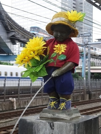 2015年7月 JR浜松町駅の小便小僧