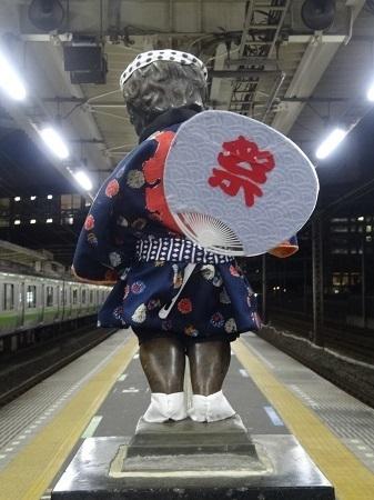 2015年9月 JR浜松町駅の小便小僧2