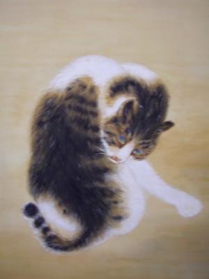 竹内栖鳳「班猫」 模写