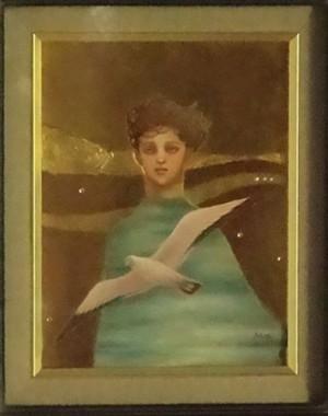 武藤雅子作「カモメ 海と空の涙」