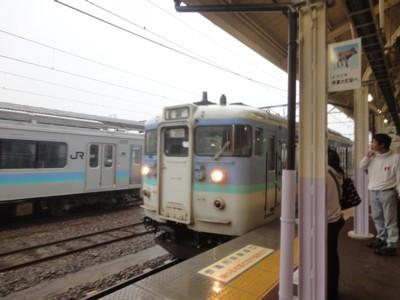 2013年9月16日 JR信濃大町駅 電車