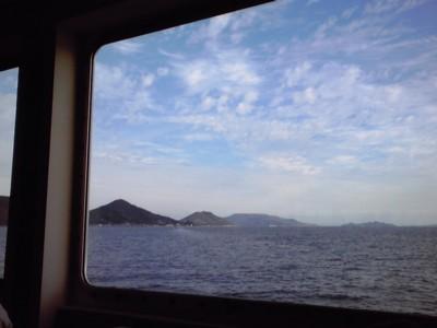 2010年10月29日 高松港から直島へ向かうフェリーから