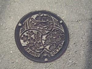 大山崎町マンホールのフタ