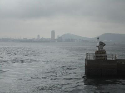 2010年10月28日 女木島港から見た高松港