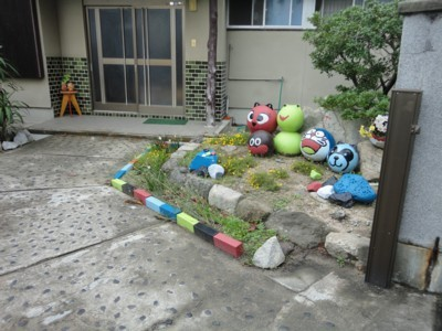 男木島の玄関先